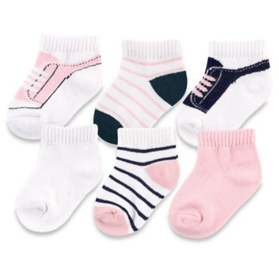 BabyVision® Yoga Sprout™ Size 12-24M 6-Pack No Show Socks in Light Pink