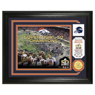 "NFL Denver Broncos Super Bowl 50 ""Celebration"" Bronze Coin Photo Mint"