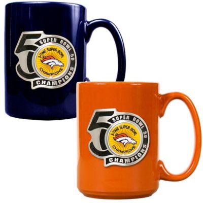 NFL Denver Broncos Super Bowl 50 Champions Coffee Mugs (Set of 2)