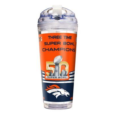 NFL Denver Broncos Super Bowl 50 Champions 24 oz. Double-Walled Travel Tumbler