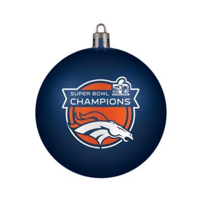 NFL Denver Broncos Super Bowl 50 Champions Shatterproof Ornament