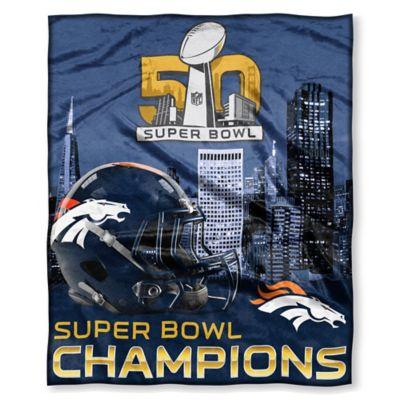 NFL Denver Broncos Super Bowl 50 Commemorative Silk Touch Throw Blanket