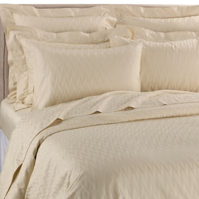 Frette At Home Porto Venere Standard Pillow Sham in Light Yellow