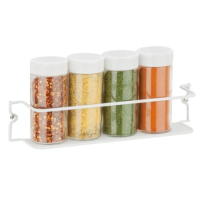Honey-Can-Do® 11.5-Inch Single-Tier Spice Rack in Mesh White