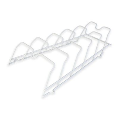 17.5-Inch Cabinet Door Lid Rack in White