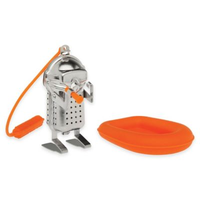 Scuba Diver Tea Infuser with Raft Drip Tray