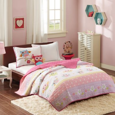 Mi Zone Kids Hooting Haley Twin Coverlet Set