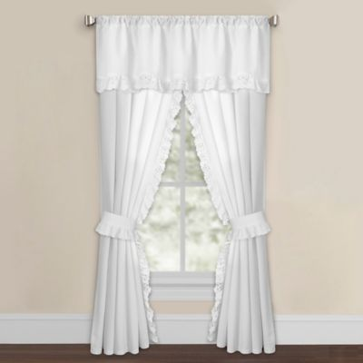 Eyelet Window Valance in White