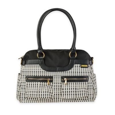 JJ Cole® Satchel Bag in Black/Cream