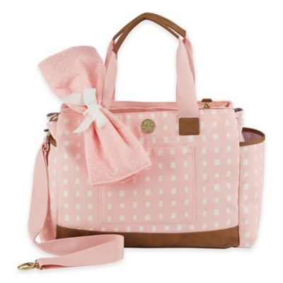 Mud Pie Bigger Bundle Rosebud Diaper Bag in Pink