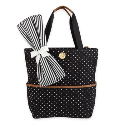 Mud Pie® Big Bundle Mini Dot Diaper Tote in Black