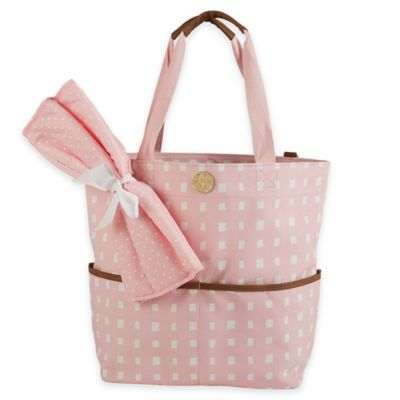 Mud Pie® Big Bundle Rosebud Diaper Tote in Pink
