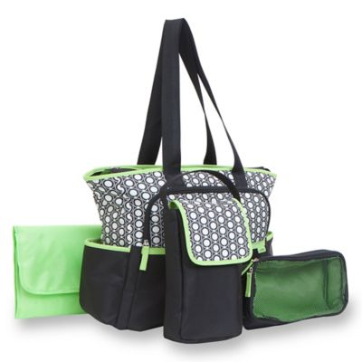 carter's® 5-Piece Tote Diaper Bag Set in Geo Star Print