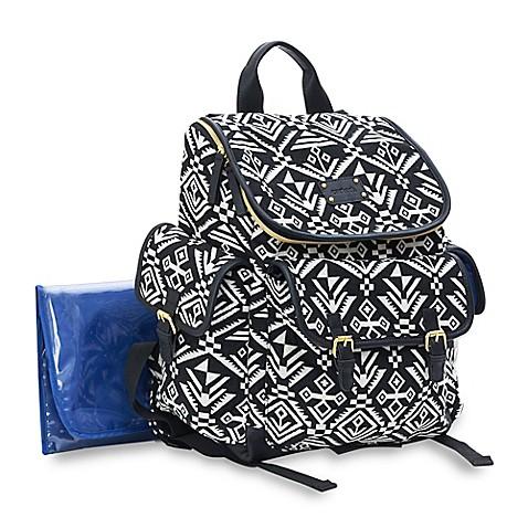 Carter S 174 Baby Go Aztec Backpack Diaper Bag In Black White