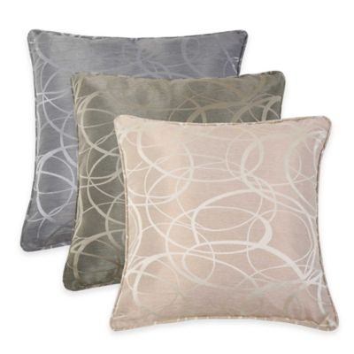VCNY Tatiana Geometric Jacquard Throw Pillow in Blue
