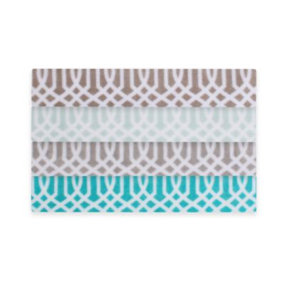 Thro Lattice Print Fleece Throw in Blue