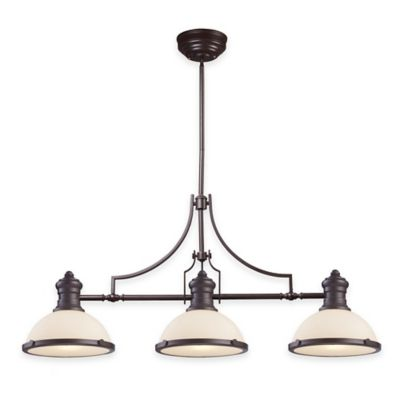 Elk Lighting Chadwick 3-Light Island Light in Oiled Bronze