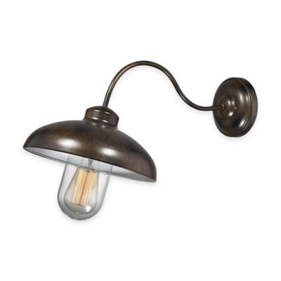 Elk Lighting Barnside 1-Light Wall-Mount Outdoor Sconce in Hazelnut Bronze