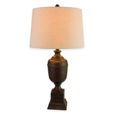 Bronze with Linen Hardback Shade Lamps