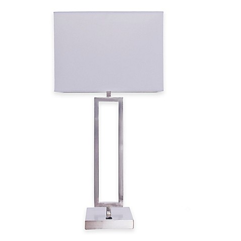 Fangio Lighting Modern Table Lamp In Brushed Nickel Www