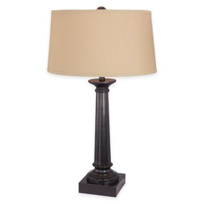 Tapered Column Table Lamp in Bronze