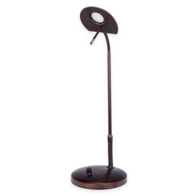 Fangio Lighting 22-Inch LED Metal Table Lamp in Oil Rubbed Bronze