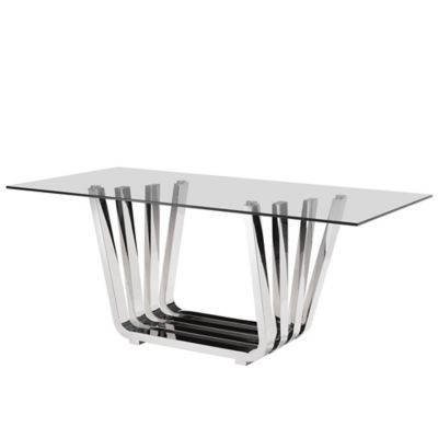 Zuo® Fan Dining Table in Chrome