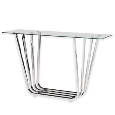 Zuo® Fan Console Table in Chrome
