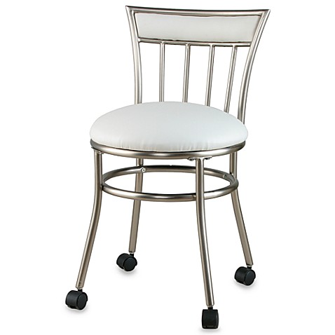 Spa Vanity Stool with Casters Bed Bath & Beyond