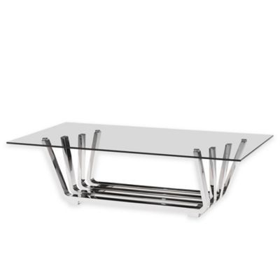 Zuo® Fan Coffee Table in Chrome