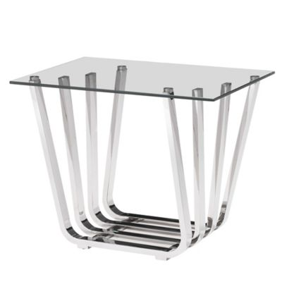 Zuo® Fan Side Table in Chrome