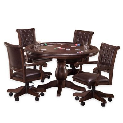 Hillsdale 5-Piece Chiswick Game Set in Brown Cherry