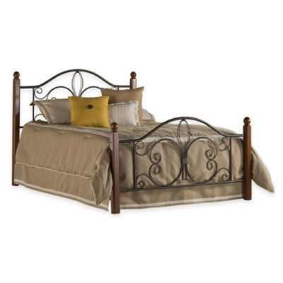 Hillsdale Milwaukee Twin Bed with Rails in Black/Cherry