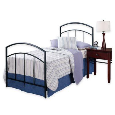 Hillsdale Julien Twin Bed with Rails in Black Metal