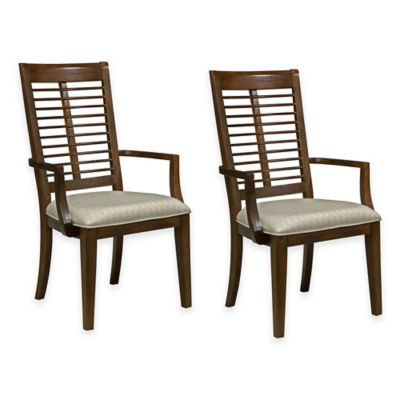 Panama Jack® Eco Jack Slat Dining Arm Chair in Brown (Set of 2)