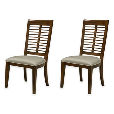 Panama Jack® Eco Jack Slat Dining Side Chair in Brown (Set of 2)