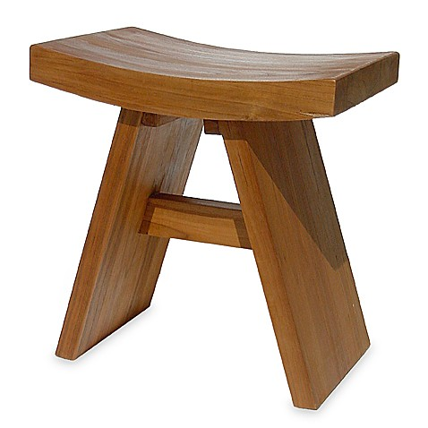 Asia Teak Shower Vanity Stool