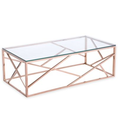 Zuo® Cage Coffee Table in Rose Gold