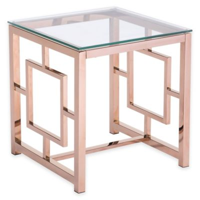 Zuo® Geranium Side Table in Rose Gold