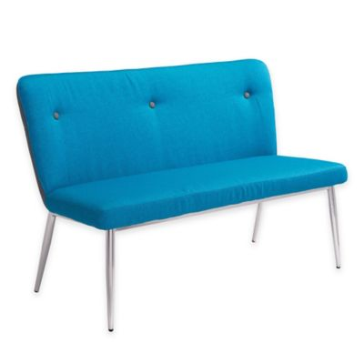 Zuo Hope Bench in Blue/Grey