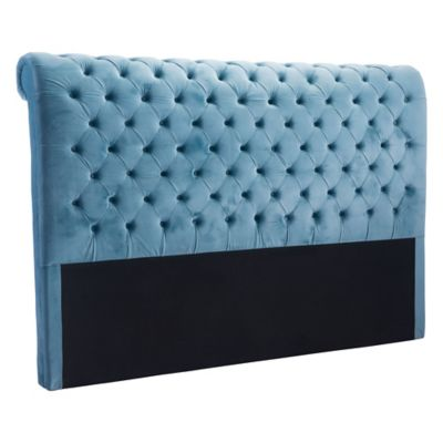 Zuo® Sergio Velvet Tufted Queen Headboard in Blue
