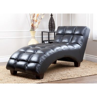 Abbyson Living® Caden Tufted Chaise in Black