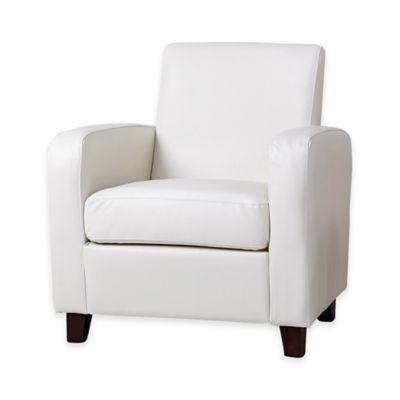 Abbyson Living® Elizabeth Leather Club Chair in Ivory