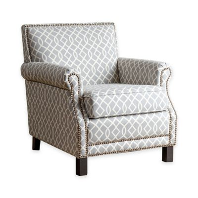 Abbyson Living® Kennedy Pattern Club Chair in Grey