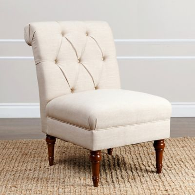 Abbyson Living® Sienna Leather Accent Chair in Wheat