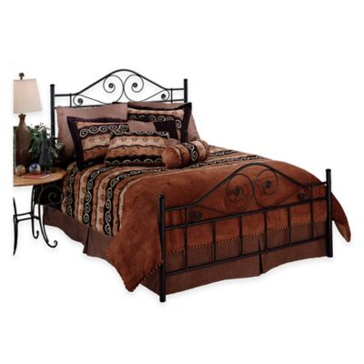 Hillsdale Harrison Full Bed without Rails in Black Metal