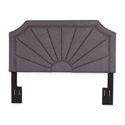 Pulaski Belle Upholstered Fan Pleated King Headboard in Hayden Silver