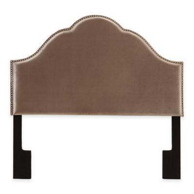 Pulaski Glamour Upholstered Queen Headboard in Velvet Chrome