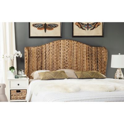 Safavieh Nadine Winged Queen Headboard in Natural