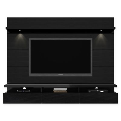 Manhattan Comfort Cabrini Theater Floating Entertainment Center Panel 2.2 in Nut Brown